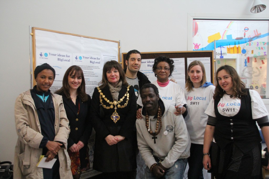 The Big Local SW11 team with Cllr Nicola Nardelli, deputy Mayor of Wandsworth
