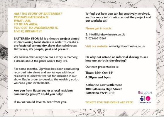 Battersea stories oct 2 2014