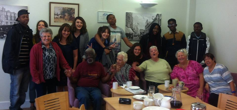 wow mums and the challenge youth at intergenerational lunch